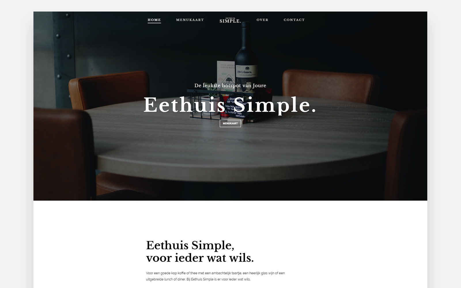 Yannick Bouma - Eethuis Simple Joure cover case study