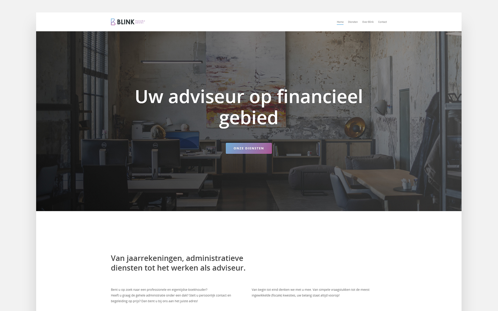 blinkadmin homepage